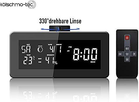 Radio Despertador Oculta cámara Oculta HD Detección de Movimiento ...