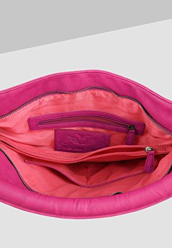 Fritzi fuchsia Aus Donna A Hanna Borsa saddle Spalla Preußen Rosa 167 rRdp8qnr