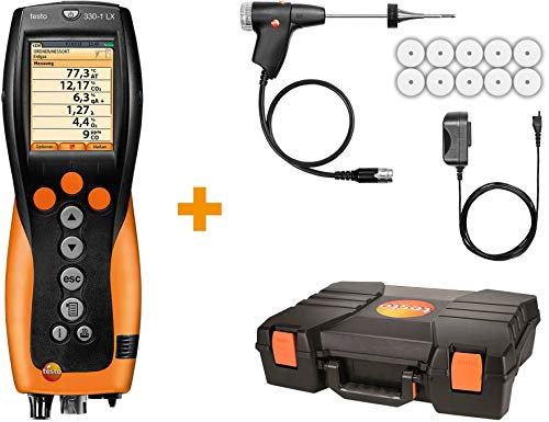 Testo 330-1 LX KIT 1 - Commercial/Light Industrial Combustion Analyzer Kit (0563 3371 70)