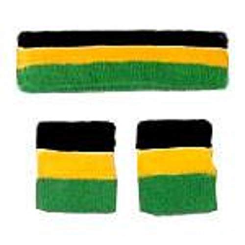 Black/Gold/Green Sweatbands Set ()