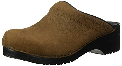 Sanita Men's Karl Textured Oil Clog, Antique Brown, 45 Medium EU (11 US)