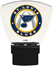 Authentic Street Signs 85322 NHL St. Louis Blues LED Nightlight, Clear, One Size