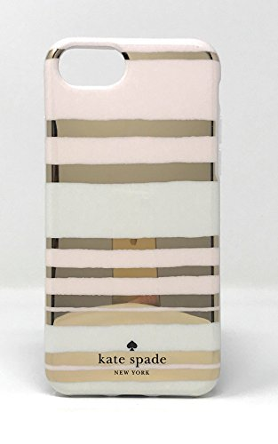 Kate Spade New York 'Capri Stripe' Protective Rubber Case for iPhone 7 & iPhone 6/6s - Gold/Cream