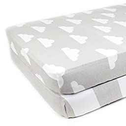 Fitted Cotton Crib Sheets 2 Pack \