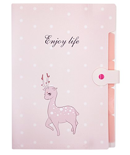 - mossty Cute File Folder Portable Document Bags Sleeve A8 Size Paper Tags Divider for Office Home Classroom Use