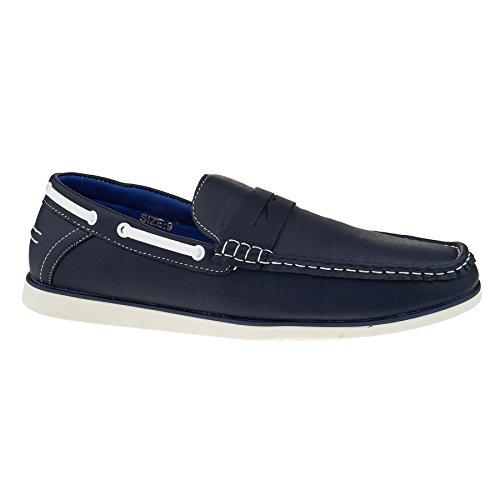 London Footwear - Sandalias con cuña hombre azul marino