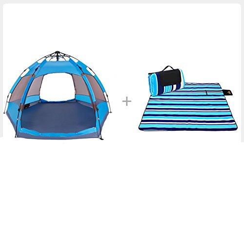 教育者電卓楽しませるTY&WJ 家族のテント 二重層 ドームテント 厚い 防雨 野外活動 登山 ティーピー 全自動 3-4 人
