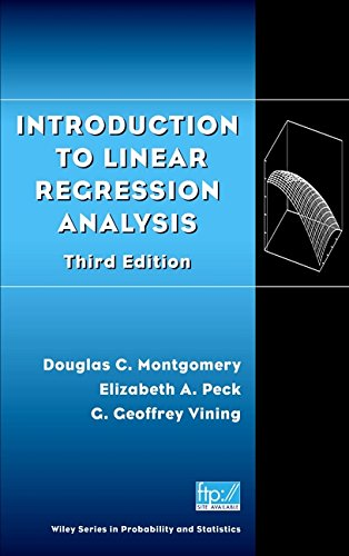 Introduction to Linear Regression Analysis, 3rd Edition