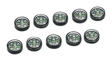 Small Black Magnetic Compass 15mm - Classroom Pack of 10 Artec 008634