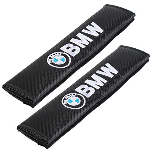 - Auto Seat Belt Cover Shoulder Pad Cushion (2 Pcs) fits All Type of car and car Seats Seat Belt Pads (BMW)