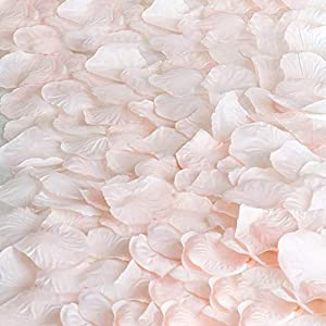 Romote 2000 Silk Rose Petals Wedding Decorations Bulk Supplies - Blush 106