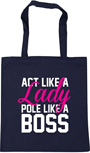 x38cm 10 French Tote Bag HippoWarehouse Pole Like Lady a Boss a Act 42cm Shopping Navy litres Gym Like Beach n6pwnZCq
