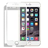 Ancdream Full Coverage Protection Carbon Fiber Plastic Frame + Durable 9H Tempered Glass For iPhone 6 Plus/6S Plus White