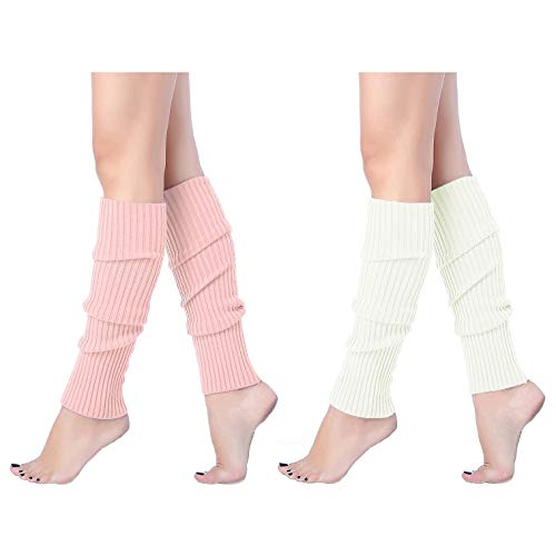 (V28 Women Juniors 80s Eighty's Ribbed Leg Warmers for Party)