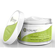Retseliney Best Acne Face Mask & Oil Control, Organic Acne Treatment + 2% Salicylic Acid & Glycolic for Teens, Adult & Hormonal Acne, Clear Blemishes & Acne Scars, Helps Prevent New Breakouts