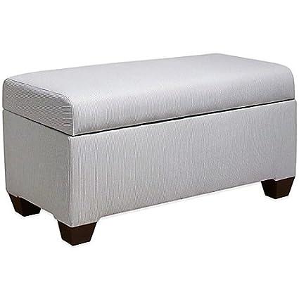 Phenomenal Amazon Com Skyline Furniture Storage Bench In Oxford Stripe Spiritservingveterans Wood Chair Design Ideas Spiritservingveteransorg