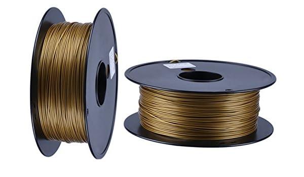 Pla filamento 3d impresora filamento 1,75 mm 1 kg color oro ...