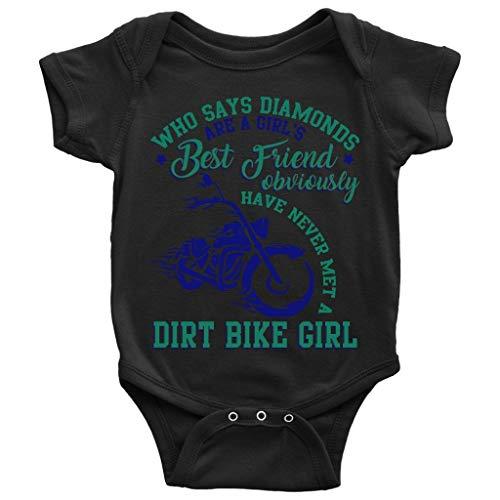 (A Girl's Best Friend Baby Bodysuit, Met A Dirt Bike Girl Baby Bodysuit (NB, Baby Bodysuit -)