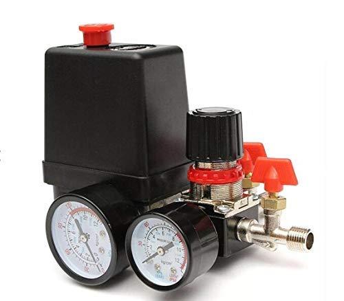 SUCAN 125Psi Compressore Aria Valvola Di Pressione Regolatore Di Regolazione Manometri
