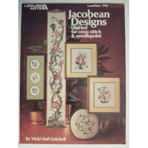 - Jacobean Designs Charted for Cross Stitch & Needlepoint Craft Book