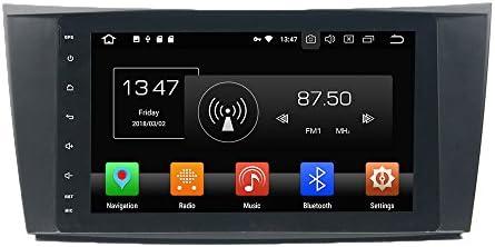 KUNFINE Android 9.0 8核自動車GPSナビゲーション マルチメディアプレーヤー 自動車音響 ベンツ BENZ E-Class W211 2002 2003 2004 2005 2006 2007 2008 CLS W219 2004 2005 2006 2007 2008 2009 G-Class W463 2001 2002 2003 2004 2005 2006 2007 2008 自動車ラジオハンドル制御WiFiブルースティスト