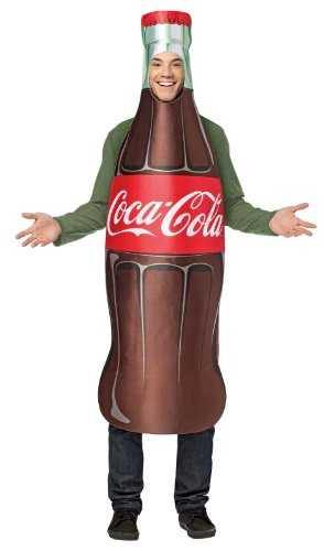 Adult Cocacola Costumes (Rasta Imposta Coca-Cola Bottle, Brown, One)