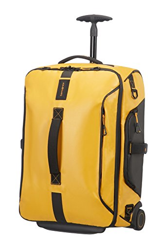 (Samsonite Paradiver Light Duffle on Wheels 55cm Backpack Yellow)