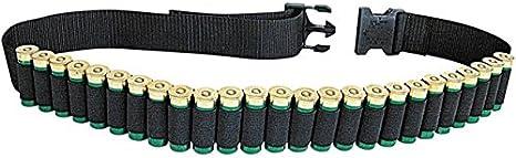 Allen - Cinturón para escopeta (capacidad para 25 proyectiles, caza, arcillas deportivas o trampas, 132 cm), color negro
