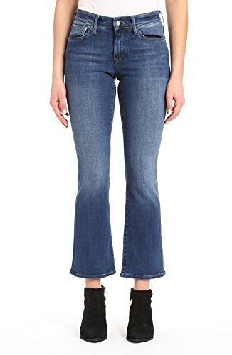 (Mavi Women's Molly Mid-Rise Classic Bootcut Jeans, Indigo Supersoft 32 X 32)