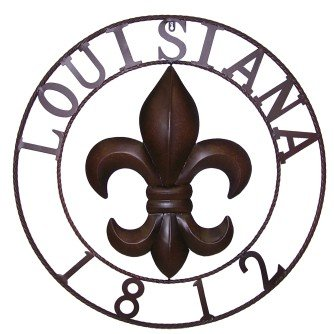 Metal circle with Fleur de lis and