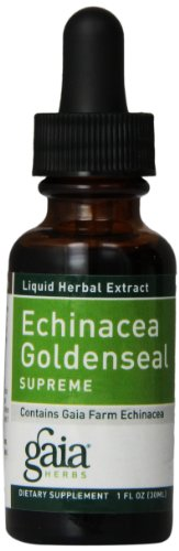 Gaia Herbs Echinacea Goldenseal Supreme 1-Ounce Bottle (Pack of 3)