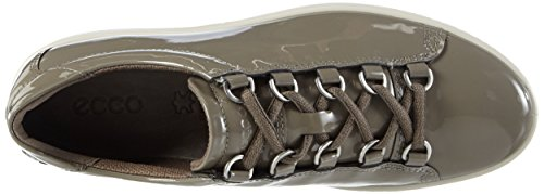 Ecco Womens Fara Tie Fashion Sneaker Warm Grey
