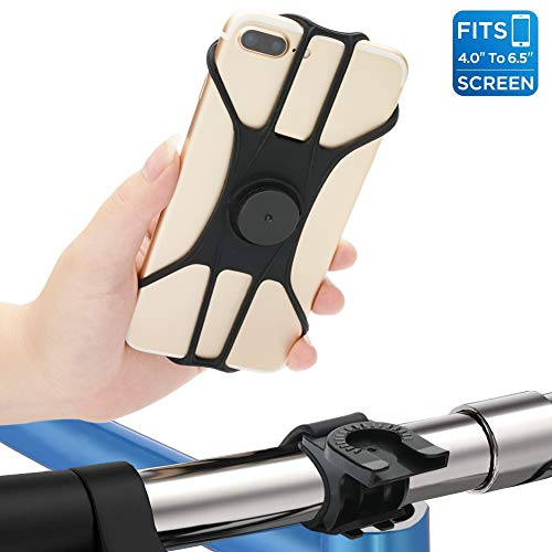 TOPCABIN Bike Phone Mount Adult 360° Rotation Separate Installation Anti-Fall Bicycle Handlebar Cradle, Silicone Motorcycle Phone Holder for iPhone x 8 8plus Samsung Galaxy Huawei