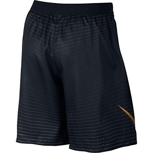 NIKE Mens Lightspeed Woven FB Football Shorts Black Gold