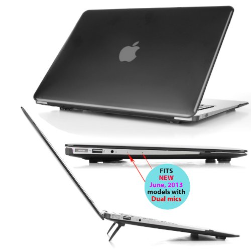 mCover iPearl Hard Shell Cover Case with FREE keyboard cover for 13.3-inch Apple MacBook Air A1369 & A1466 - BLACK