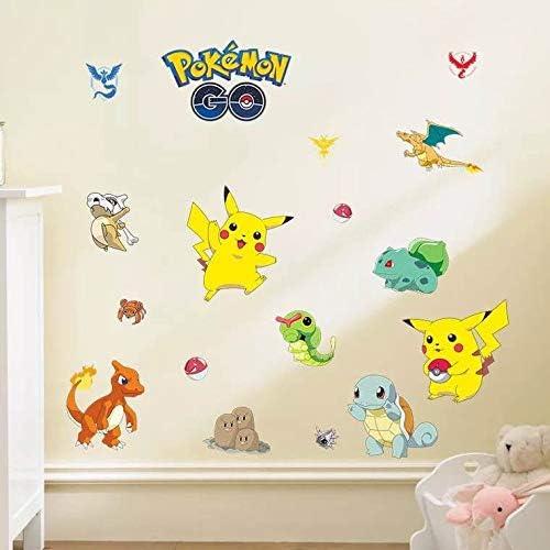 Kibi Pegatinas Pokemon Pikachu Wall Sticker Pokemon Go Pegatinas De Pared Stickers Pokemon Pared Adhesivo Pokemon