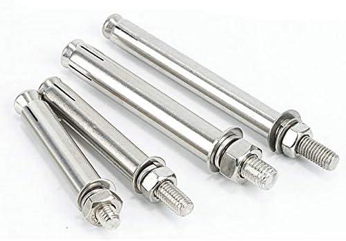 HXSD 4 Pcs Outer Expansion Screw Bolt Concrete Anchor Bolt Burst Expansions 304 Stainless Steel M6 M8 M10 M12 Size : M10x80