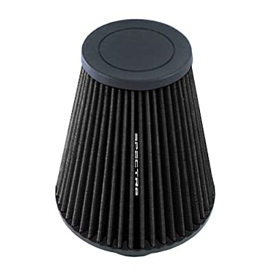 Spectre Universal Clamp-On Air Filter: High Performance, Washable Filter: Round Tapered; 2.5 in (64 mm) Flange ID; 8 in (203 mm) Height; 5.656 in (144 mm) Base; 3.156 in (80 mm) Top, SPE-HPR9609K: Automotive