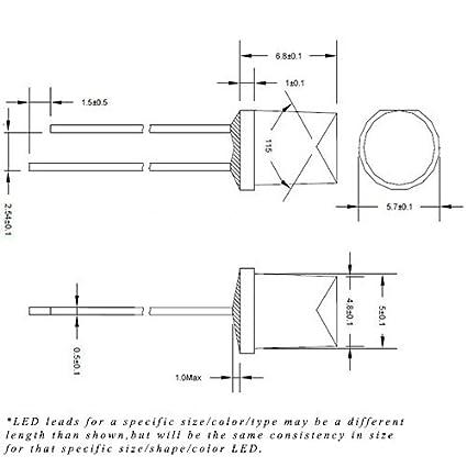 430BC//10# LED 5mm cylindrique Blanc chaud 10pcs Flat TOP LED Warm white 10pcs