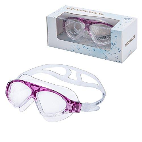 Unisex Anti-fog Competition Swimming Goggles(Purple) - 6
