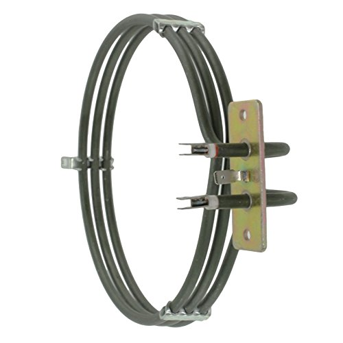 Spares2go 3 Turn Heater Element For Zanussi Fan Oven Cookers 2000W