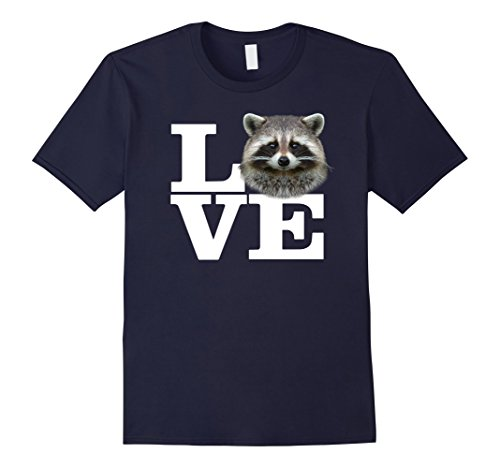 Mens I Love Raccoons T-Shirt Funny Raccoon Lover Tee Medium Navy