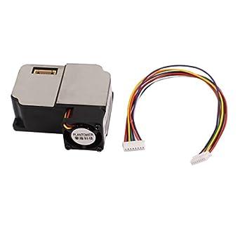 Uxcell a16010600ux0154 Laser Dust Sensor Module Dust Detector Air Purifier PM1.0 PM2.5 PM10, 1.57