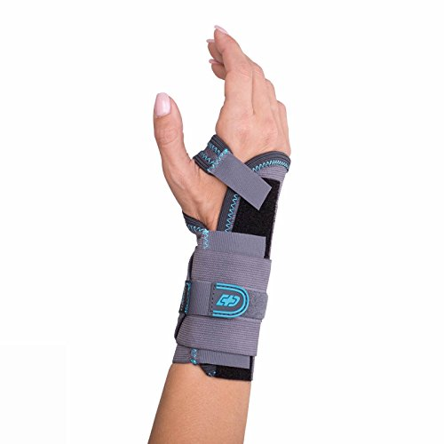 DonJoy Advantage DA161WB01-GRY-XL-R Stabilizing Elastic Wrist Brace for Carpal Tunnel, Sprains, Strains, Tendonitis, Instabilities, Palm Stay