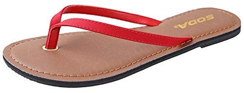 para de Soda Lipstick Lisas Estilo Sandalias Shoes Playa Casual Mujer wE6I6qx