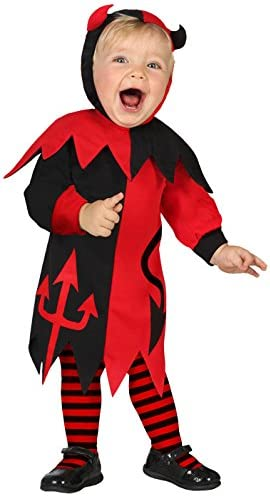 Atosa-39565 Disfraz Demonio para Niña Bebé, color rojo, 6 a 12 ...