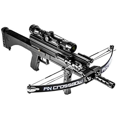 (XtremepowerUS Multifunctional Crossbow 80 lbs 160 fps Hunting Equipment 200 Magazine Capacity)