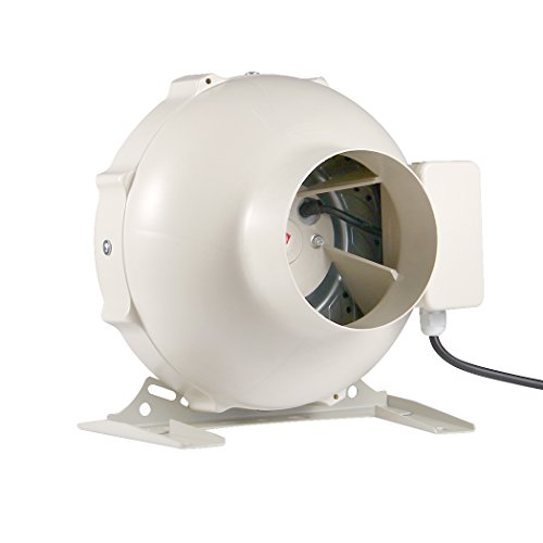 r Fan Circular Centrifugal Ventilation System Exhaust Air for Bathroom Kitchen Inline Round Duct Fan (4 Inch) ()