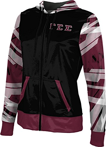 [ProSphere Women's Gamma Sigma Sigma Crisscross Full-zip Hoodie (X-Small)] (Miami Vice Outfits)