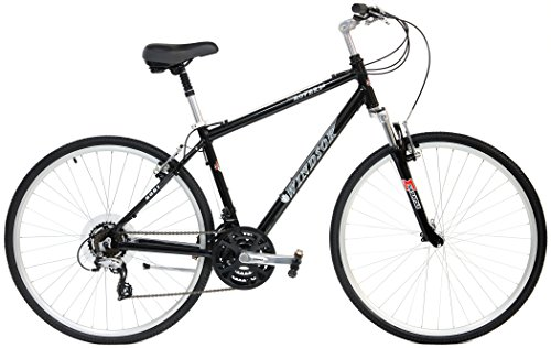 Windsor Rover 2.0 Hybrid 700c Comfort Bike Shimano 21 Speed with Suspension Fork, Flat Bars and Comfort Seat (Black, 14in Ladies)